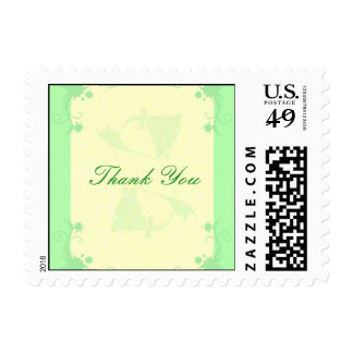 Scroll and Flower Postage