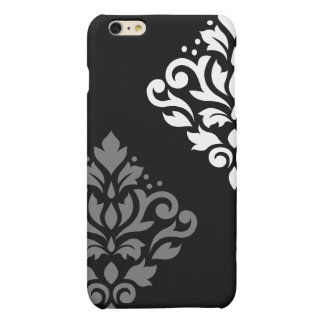 Scroll Damask Art I Black Grey White Matte iPhone 6 Plus Case