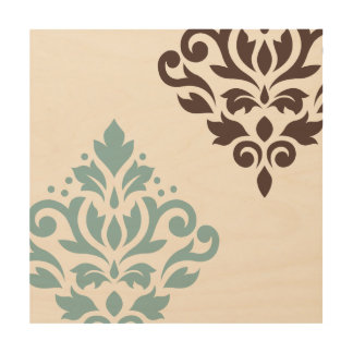 Teal And Brown Wall Art teal and brown wood wall art | zazzle