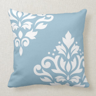Light Blue Damask Pillows Decorative Throw Pillows Zazzle