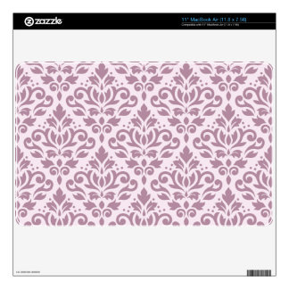 Scroll Damask Big Pattern Mauve on Pink Skins For The MacBook