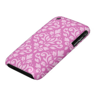Scroll Damask Large Pattern Light on Dark Pink iPhone 3 Case-Mate Case