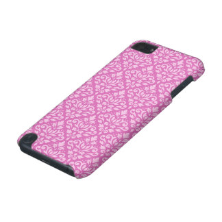 Scroll Damask Pattern Light on Dark Pink iPod Touch 5G Case