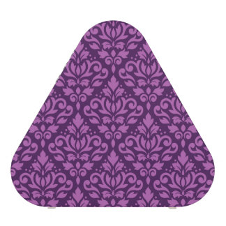 Scroll Damask Pattern Light on Dark Plum Bluetooth Speaker