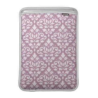 Scroll Damask Pattern Pink on Mauve MacBook Air Sleeves