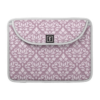 Scroll Damask Pattern Pink on Mauve Sleeve For MacBooks