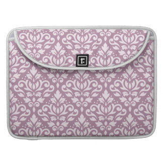 Scroll Damask Pattern Pink on Mauve Sleeves For MacBook Pro