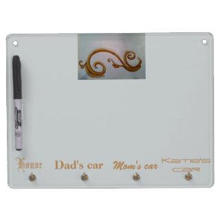 Scroll design Dry erase board and key holder