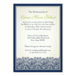 Scroll Fan Border (Navy) 5x7 Paper Invitation Card