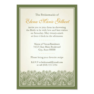 Scroll Fan Border (Olive) Card