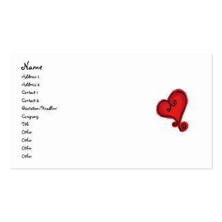 SCROLL HEART business card