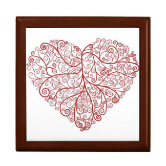 Scroll Heart Large Gift Box