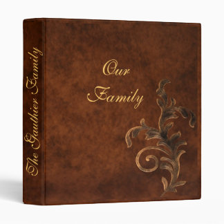 Scroll Leaf Family Photo Album 3 Ring Binder