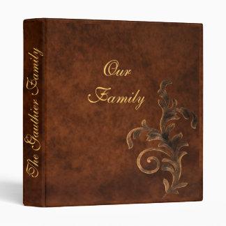 Scroll Leaf Family Photo Album Binders