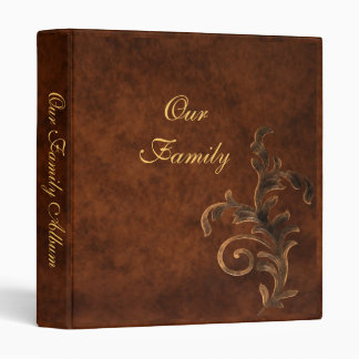 Scroll Leaf Mother's Day Family Album 3 Ring Binder