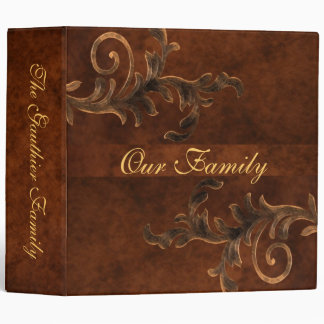 Scroll Leaf Two Inch Family Album Binder