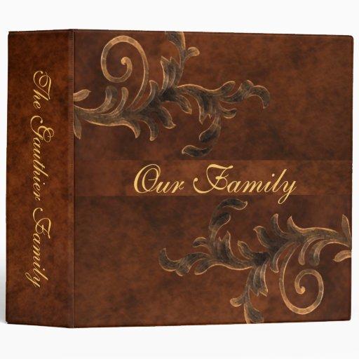 Scroll Leaf Two Inch Family Album Binder