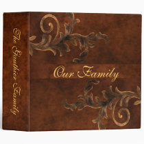 Scroll Leaf Two Inch Family Album Vinyl Binders