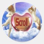 Scroll Logo Stickers
