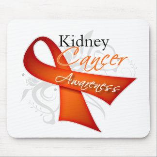 Scroll Orange Ribbon Kidney Cancer Awareness Mouse Pad