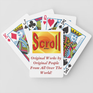 Scroll Original Artist Magazine Bicycle Playing Cards