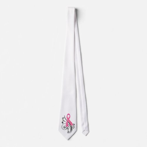 Scroll/Pink Ribbon Tie zazzle_tie