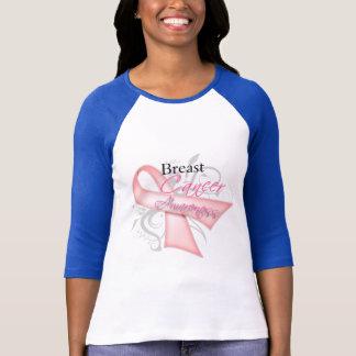 Scroll Pink Ribbon v2 Breast Cancer Awareness T-Shirt