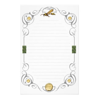 Scroll Potter Wasp Lined Stationery