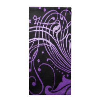 Scroll purple American MoJo Napkin