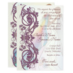 Scroll Rainbow Bride & Groom Wedding Invite-2B Card