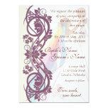 "Scroll Rainbow Bride & Groom Wedding Invite-2B 5"" X 7"" Invitation Card"