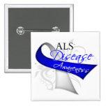 Scroll Ribbon - ALS Disease Awareness Pin