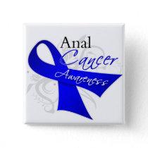 Scroll Ribbon - Anal Cancer Awareness Pinback Button