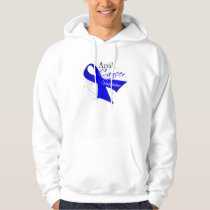 Scroll Ribbon - Anal Cancer Survivor Hoodie