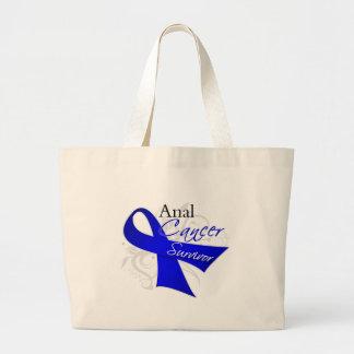 Scroll Ribbon - Anal Cancer Survivor Jumbo Tote Bag