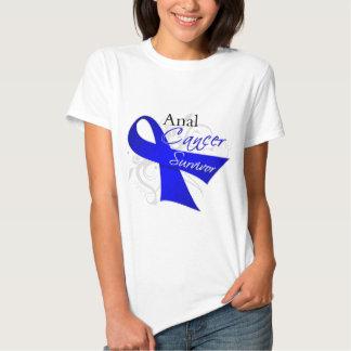 Scroll Ribbon - Anal Cancer Survivor Shirts