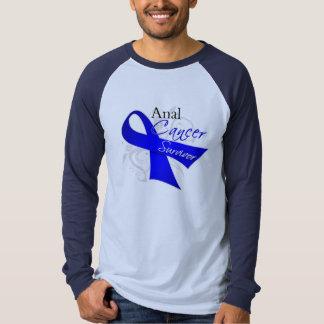 Scroll Ribbon - Anal Cancer Survivor T-shirt