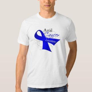 Scroll Ribbon - Anal Cancer Survivor Tees