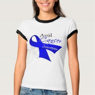 Scroll Ribbon - Anal Cancer Survivor Tshirt