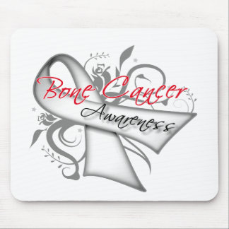 Scroll Ribbon Bone Cancer Awareness Mousepad