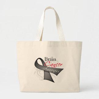 Scroll Ribbon Brain Cancer Awareness Jumbo Tote Bag