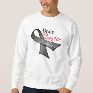 Scroll Ribbon Brain Cancer Awareness Pull Over Sweatshirt