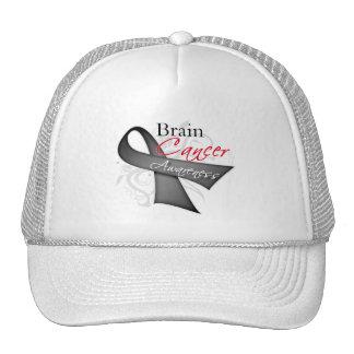 Scroll Ribbon Brain Cancer Awareness Trucker Hat