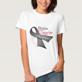 Scroll Ribbon Brain Cancer Awareness Tshirts