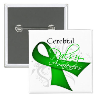 Scroll Ribbon - Cerebral Palsy Awareness Pins