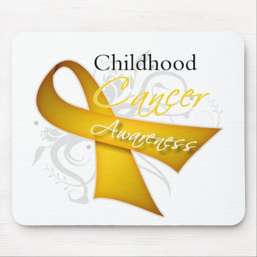 Scroll Ribbon Childhood Cancer Awareness Mouse Pad