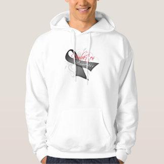 Scroll Ribbon - Diabetes Awareness Hooded Sweatshirt