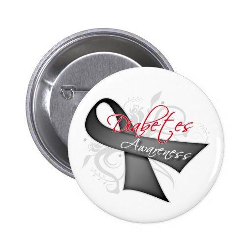 Scroll Ribbon - Diabetes Awareness Pinback Button