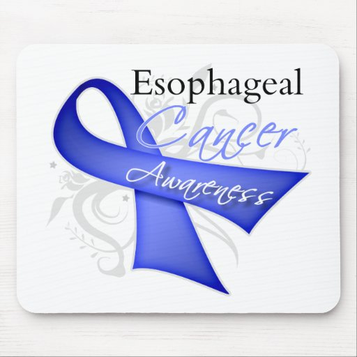 Scroll Ribbon Esophageal Cancer Awareness Mousepad