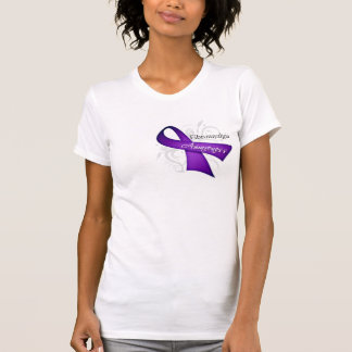 Scroll Ribbon - Fibromyalgia Awareness T-shirt
